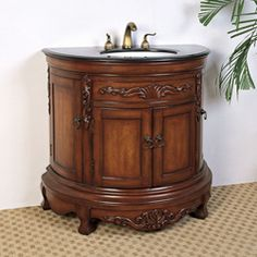 @Overstock - This single sink vanity is perfect for your next bathroom remodel. Featuring classic detailing, this traditional furniture piece brings elegance to any home.http://www.overstock.com/Home-Garden/Granite-Top-36-inch-Single-Sink-Vanity/5971005/product.html?CID=214117 $723.99