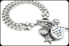 Deputy Sheriff Bracelet, Sheriff Jewelry, Deputy Sheriff Wife, Law Enforcement Gift, Deputy Sheriff Mom, Deputy Sheriff Charm Bracelet - Blackberry Designs Jewelry