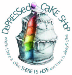 The Depressed Cake Shop  Cakes, cookies and treats in varying pallors of grey to help showcase awareness for our friends and family who suffer with mental illness and depression. Cake pop ups are nationwide. Click to join and help spread the word!