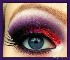 purple and red eye make-up Crazy Makeup, I Love Makeup, Makeup Geek, Makeup Art, Beauty Makeup, Makeup Looks, Hair Makeup, Makeup Ideas, Pink Makeup