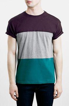 7108c48019 Topman Colorblock Stripe T-Shirt available at  Nordstrom Modelos De Roupas