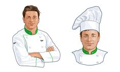 Повар Иллюстрация для кулинарного портала «Еда». Повар должен напоминать Джейми Оливера, но не быть им  Заказчик: Рамблер Иллюстратор: Виталий Войнов