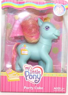 Party Cake My Little Pony MIB G3 Hasbro 25th Birthday Celebration HTF | eBay