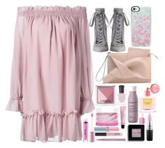 """Blind date"" by ashlynlixey-1 ❤ liked on Polyvore featuring Alexander McQueen, Zimmermann, Casetify, Clinique, Deborah Lippmann, Boscia, Living Proof, H&M, Victoria's Secret and NARS Cosmetics"