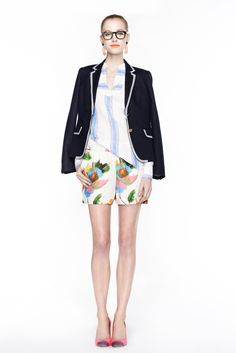 J.Crew Spring 2013 Ready-to-Wear - Look 12 [I need that piped blazer!]