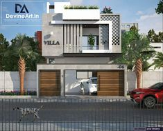 Bungalow House Design, House Front Design, Modern House Design, Front Elevation Designs, House Elevation, House Architecture Styles, Architecture Plan, Design Exterior, Facade Design