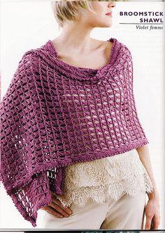 Broomstick Crochet Shawl by styledbykristin, via Flickr