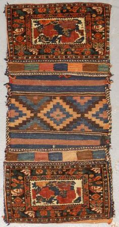 Lot 2095. A KURDISH BAGFACE size approximately 1ft. 3in. 2ft. 8in. Estimate US$ 300 - 500
