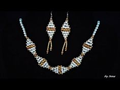 How to make beaded necklace and earrings tutorial - YouTube