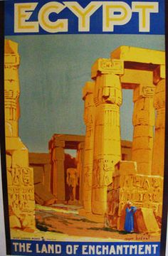 Original Vintage Egyptian Travel Poster