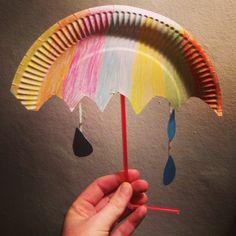Kids craft paper plate umbrella