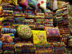 Cushions, Grand Bazaar of Istanbul. Turkey.
