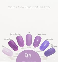 Comparando o 276 Iris, Mavala - Unha Bonita Dupes, Beauty Nails, Hair Beauty, Hand Care, Nail Colors, Fashion Beauty, Manicure, Nail Designs, Nail Polish