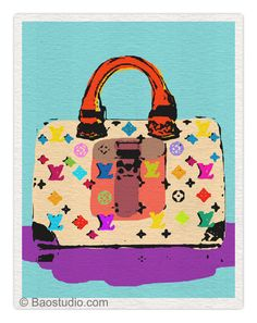 Louis Vuitton Baby Blue/Purple  8x10 Pop Art Print by PineShore, $14.51