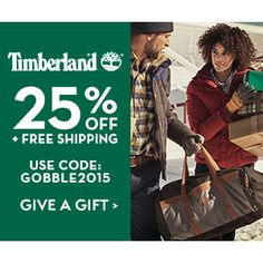 Timberland : 25% off + Free S/H http://www.mybargainbuddy.com/timberland-25-off-free-sh