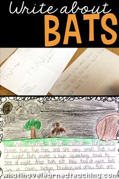 Explore nonfiction writing during the month of October by learning about animals that come out at night. Here is how we gathered facts about bats and wrote about this amazing animal. It also makes a great Halloween writing activity! #bats #nonfictionwriting #expositorywritinng #Octoberwriting Writing Strategies, Writing Resources, Teaching Writing, Writing Activities, Writing Ideas, Classroom Activities, Teaching Resources, Teaching Ideas, Classroom Ideas