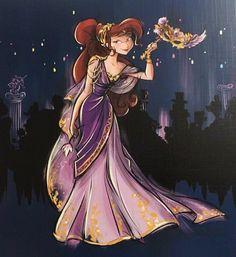 Art image from the series Megara Disney Designer Midnight Masquerade Megara Disney, Disney Pixar, Disney And Dreamworks, Disney Cartoons, Disney Princesses, Esmeralda Disney, Megara Hercules, Disney Princess Fashion, Disney Princess Drawings