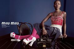 Lupita Nyong'o for Miu Miu SS 2014 by Inez & Vinoodh l #fashion #youngactress