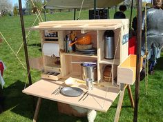 Homemade Camping Kitchen Set by Roaming Gnome 2000, via Flickr