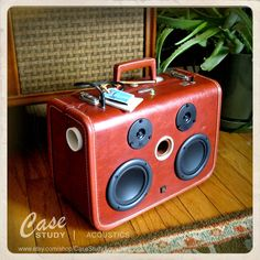 can i curse on pintrest? EFFFFF yeah! i want this soo effing bad. wow.   Handmade 1 of a kind -  Luggage Speaker by Case Study - Acoustics. $895.00, via Etsy.
