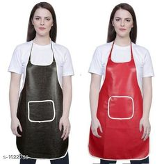 Aprons Classic Aprons ( Pack Of 2)  *Material * Apron - PVC  *Size (L x W)* Apron - 18  in x 28 in  *Description* It Has 2 Piece Of Kitchen Apron  *Pattern* Solid  *Sizes Available* Free Size *   Catalog Rating: ★4.2 (216)  Catalog Name: Hiba Lovely Aprons Combo Vol 1 CatalogID_123448 C129-SC1633 Code: 142-1022756-