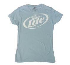 This womens Miller Lite t-shirt is made of cotton and has the Miller Lite logo screenprinted on the front. Miller Lite, Beer Shirts, Best Beer, Spring Fashion, Athletic Tank Tops, Logos, My Style, Tees, Mens Tops