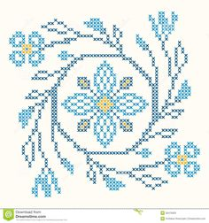 Cross-stitch Embroidery In Ukrainian Style - Download From Over 53 Million High Quality Stock Photos, Images, Vectors. Sign up for FREE today. Image: 35470933
