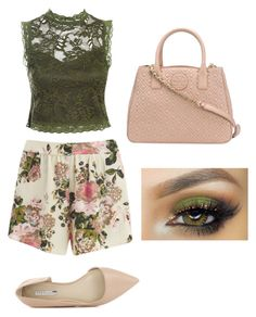 """""""Olive"""" by emmasmommy14 ❤ liked on Polyvore featuring VILA, Sans Souci, BCBGeneration and Tory Burch"""