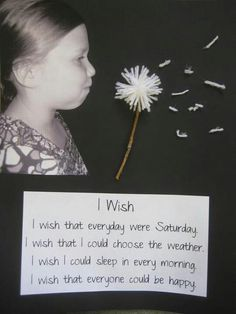 Kid photo idea - love her wishes!