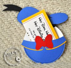 Custom Donald Duck Birthday Invitations Handmade by Lisa via Etsy
