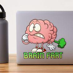 """Brain Fart"" Sticker by arendbotha | Redbubble Canvas Prints, Art Prints, Sticker Design, Brain, Studios, Finding Yourself, Stickers, Artist, The Brain"