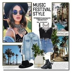 """Show Time: Best Festival Trend"" by lilly-2711 ❤ liked on Polyvore featuring River Island, LE3NO, Maison Michel, MICHAEL Michael Kors and Givenchy"