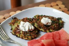 Zucchini Fritters (What Would the Canal House Ladies Do? Blood Orange Drink, Orange Drinks, Yummy Recipes, Yummy Food, Zucchini Fritters, Arugula, Side Dishes, Food And Drink, Tables
