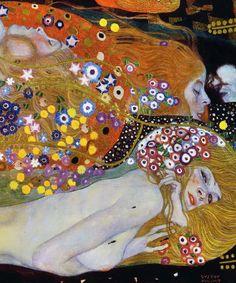 Gustav Klimt - Water Serpents II