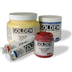 acrylic paints - basics vs. golden