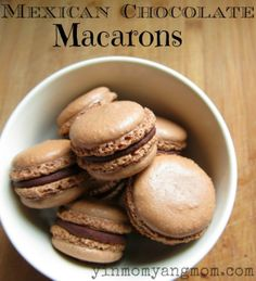 Mexican Chocolate Macarons Recipe.