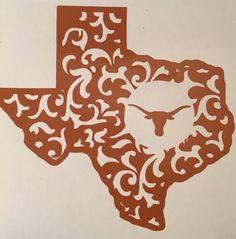 Texas Longhorns Football Decal For Your Yeti Rambler Tumbler Coldster Beer Mug
