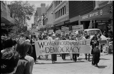 Union of Australian Women protesting against the dismissal of the Whitlam Government, Perth, 1975 Wa Gov, Perth Western Australia, Street Mall, Present Day, Capital City, Time Travel, Westerns, March, History