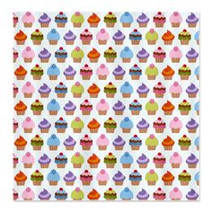 I Love Cupcakes Shower Curtain by nicholsco