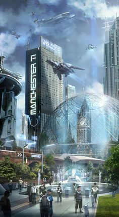 City of the future...love the dome!