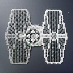 TIE Fighter - Star Wars perler beads by jimbshrimp