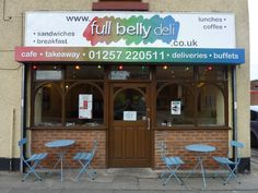 Shop sign for Full Belly Deli Breakfast Cafe, Shop Signage, Window Graphics, Sandwiches For Lunch, Shop Fronts, Car Shop, Deli, Buffet, Outdoor Decor