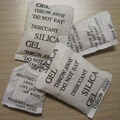 8 Clever Uses for Silica Gel: Who knew they could be used for other things! Reuse those packets of silica gel that come in a shoe box or beef jerky packet.