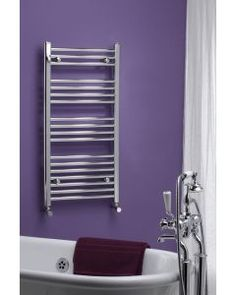 Buy the Ladder Curved Heated Towel Rail from Weheat.co.uk . We stock a huge range of towel rails for any installation or budget. Radiators Uk, Electric Towel Rail, Electric Radiators, Designer Radiator, Towel Warmer, Heated Towel Rail, Elements Of Style, Shower Enclosure