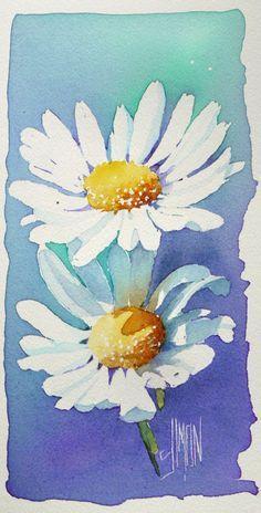 aquarelle art astuces drawing gum tableau final