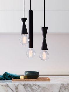 Zinc 1 Light Medium Pendant in Black | Modern Pendants | Pendant Lights | Lighting