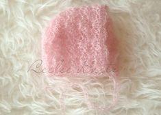 Crochet Newborn Mohair Bonnet
