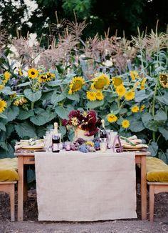 Adorable sunflower wedding.
