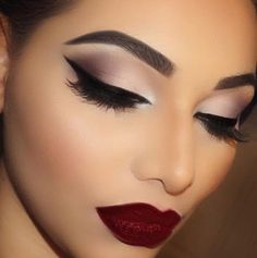 Image result for makeup looks for a navy dress
