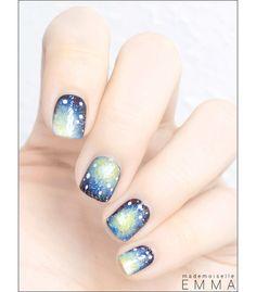 sky patern nails